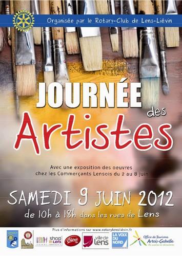 La Journée des Artistes et Choeuralens 2012 à Lens, ville culturelle dans Informations JA001