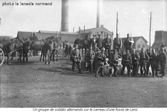 015 soldats allemands dans une fosse de Lens