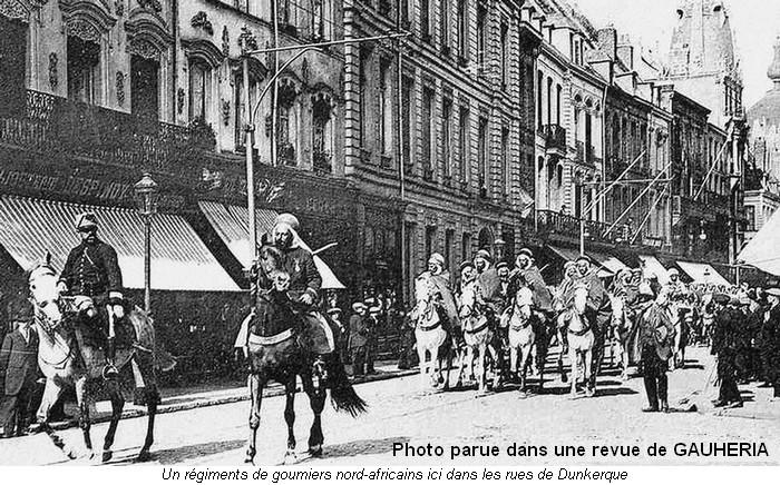 Goumiers dans les rues de Dunkerque