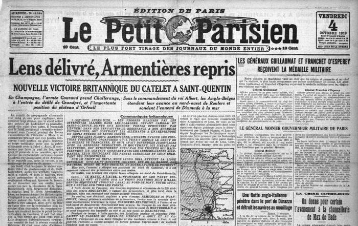 043 2 petit parisien 04 10 1918